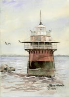 Lighthouse, Plymouth Harbor